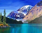 Mt Edith Cavell from Cavell Lake