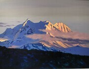Alpen Glow on Mount Garabaldi