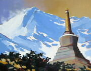 Chorten in the Thame Valley Nepal