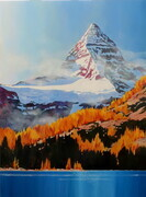 Mt Assiniboine with fall larches