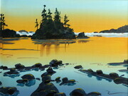 Last light west coast beach