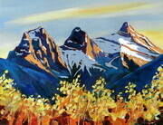 Three Sisters Canmore study # 2